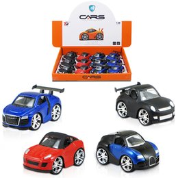 Wholesale Pull Back Toy Cars - Sliding Simulation Pull-Back Simulation Car Vehicle Set with 4 Roles Mini Fun Alloy Diecast Model Car Toys Collection for Kids YPD-Q1 YPD-Q2