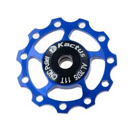 Wholesale fix gear wheels - 1pc 11T Bicycle Ceramic Bearing Bearing Jockey Wheel Rear Derailleur Road MTB Bike Guide Roller Rear Derailleur Jockey 5Color