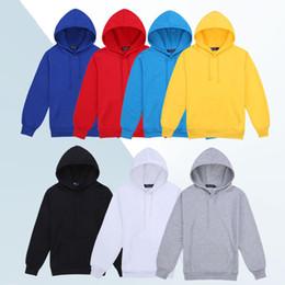 991510a87872 black hoodie plain Promo Codes - Men s Cotton Hooded Blank Pullover  Sweatshirt Hoody Long Sleeve Coat