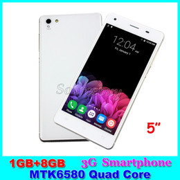 Wholesale Sim Free Smartphones - 5 inch 3G Unlocked Mobile phones Z6 MTK6580 Quad Core Android 5.1 Dual SIM 1GB RAM 8GB ROM Smartphones Smart-wake Free Shipping