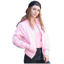 Wholesale Thin Quilted Jacket - Wholesale- 2016 New Trendy Winter Candy Color V-Neck Quilting Short Thin Padded Baseball Bomber Coat Pilots Women Outerwear Quilted Jacket