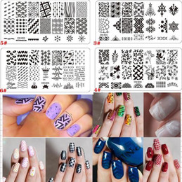 Wholesale Nail Art Plates Wholesale - 20 Styles for choose Nail Art Stamp Template Manicure Nail Tools Nail Stamping Plates