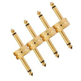 Wholesale Pedal Connectors - Wholesale- Guitar Connector Music Musical Dual Instrument Plug Patch Converter Effect Pedal