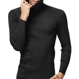 Wholesale Men S Cashmere Turtlenecks - 2016 Winter Thick Warm 100% Cashmere Sweater Men Turtleneck Men Brand Mens Sweaters Slim Fit Pullover Men Knitwear Double collar