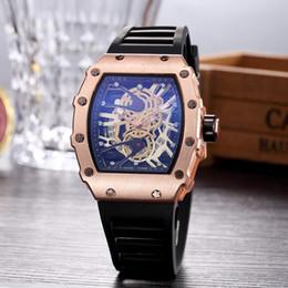 Wholesale clock m - Richard M Wholesale Cheap Price Luxury Brand Mens Sport Wristwatch Quartz Movement Rubber Strap Gift Watch Clock Time