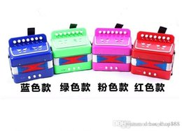 Wholesale Mini Accordion - Mini toy accordion Child accordion music theatrical musical instrument toys children birthday gift