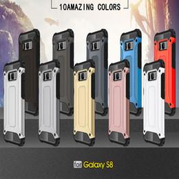 чехлы для мобильных телефонов s6 edge Скидка Для Apple iphone X 8 7 плюс 6S Samsung Galaxy примечание8 S8 плюс S8 + S7 край S6 Стальная броня TPU + чехлы для сотовых телефонов DHL бесплатно SCA328