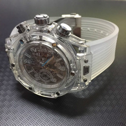 Wholesale White Rubber Swiss Watch - Relojes mujer 2017 Luxury watch Men watches All Subdials Work Transparent dial Swiss movement Fashion Sport Wristwatches For men AAA rolejes