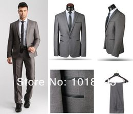 Wholesale Cheap Yellow Gold Wedding Sets - GreyBlack Fashion 2 piece Set New Design Dress suit Men's Suits For Wedding and Business size XS-4XL with cheap price