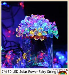 2019 albero solare del fiore 20PCS Solar Power Fairy String Lights 7M 50 LED Peach Blossom Decorativo Giardino Prato Patio Alberi di Natale Festa Nuziale sconti albero solare del fiore