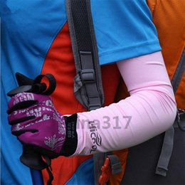 Wholesale Outdoor Sun Covers - Fashion Men Women Cycling Arm Warmers Sleevelet Cover Outdoor Bicycle Sun Protection Arm Sleeve 7 Color 2173
