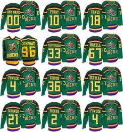 Wholesale Ducks Throwback - customized men 96 Charlie Conway 4 cam fowler 21 chris wagner 10 corey perry jakob silfverberg anaheim ducks throwback premier jersey green