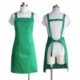 Wholesale Nail Aprons - factory price mulit color high quality cotton Adjustable pockets stylists work apron beauty hairdresser nail apron