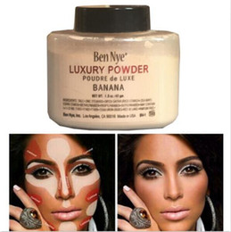 Wholesale cheap matte makeup - Ben Nye Banana Powder 1.5 oz Bottle Authentic Luxury Face Makeup Kim Kardashian Bottle Luxury Powder Poudre Banana Loose Powder Cheap