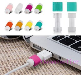 Wholesale Cases Chargers Ipad - USB Lightning Data Charger Cable Saver Protector For iPhone 5 5s 6 6S Plus SE ipad ipod Headset Protection Earphone Wire Cord Protective