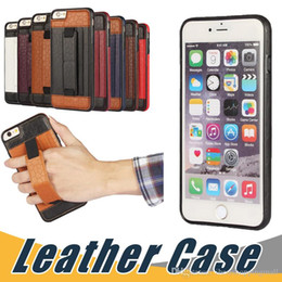 Wholesale Football Cases - For iPhone 7 6 Plus 5 Football Pattern Patch TPU Hand Strap Bracket Card Back Cover Phone Case