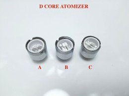 Wholesale E Cigarette Atomizer Core - Triple Quartz Ceramic Rod Coil of D Core Wax Atomizer vaporizer Wax pen Double Core Head Rod D Core RDA E Cigarette Atomizer