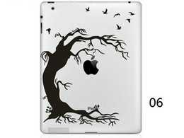 Wholesale Cartoon Laptop Skins - Hot Originality Cartoon-4 series Vinyl Tablet PC Decal Black Sticker Skin for Apple iPad 1  2   3   4   Mini Laptop Skins Sticker
