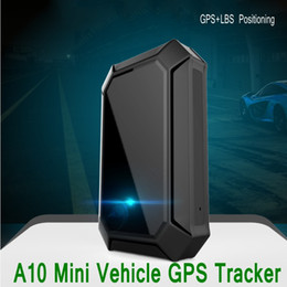 Wholesale Lbs Tracker - A10 Mini GPS Tracker GPS LBS Real-time Tracking Locator for Car Vehicle with Geo-fencing Function Portable GSM GPRS GPS Tracker Ann