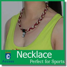 Wholesale Titanium Germanium Rope - titanium sport necklace fundraiser Germanium Titanium Necklace 3 ropes necklace,tornado necklace