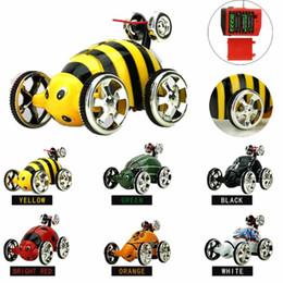 Wholesale Radio Control Stunt Car - Wholesale- Mini Rotation RC Radio Remote Control Racing Stunt Flip Car Toy Kids Dropship Y824