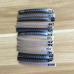 Wholesale Rectifier Diodes - Wholesale- LL34 SMD Zener diode package 1 2W 3v-24v 15 kinds *20pcs=300pcs 1N4148 KIT