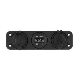 Canada 12V double voiture allume-cigare Socket 2 USB adaptateur chargeur numérique voltmètre Power Splitter rechargeable électronique briquet Offre
