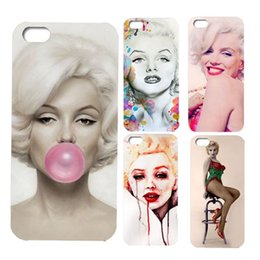 Wholesale Smile Phone Cases - HOT phone case Retail Stylish Marilyn Monroe Keep Smiling Bubble Gum Protective Hard Cover Case For iPhone 5 5S