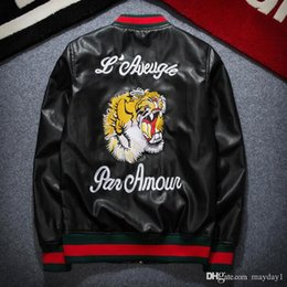 Wholesale Coat Brands For Men - Luxury brand mens jackets coats fashion MA1 Bomber jackets for men embroidery tiger Sport Suit mens hip hop coats streetwear free shipping