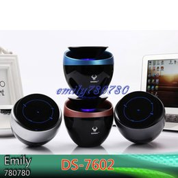 Wholesale Ds Mini Speaker - DS-7602 Bluetooth Speaker Portable Stereo Subwoofer Mini Wireless Bluetooth 4.0 Speaker Built-in NFC&FM  TF Card  Aux in function