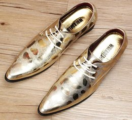 Wholesale Italian Shoes Yellow - 2016 New Hot Sale Luxury Italian Brand Men Genuine Leather Pointed Toe Designer Dress Shoes Men Leather Wedding Shoes