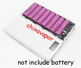 Wholesale Diy Cell Case - 10pcs NEW 18650 rechargeable li-ion Battery Charger LCD DIY 8 Slots Cell Phone 18650 USB Power Bank Box Case External Charger circuit board