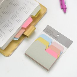 Wholesale Index Book - Wholesale- 1 Pcs Lot Index sticky notes 6 color 90 sheets memo pads Mini color stickers for book marker Office School supplies