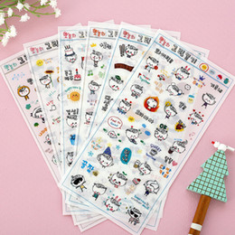 Wholesale Photo Corner Stickers - Wholesale- 6 Pcs pack Every Day Pvc Transparent Decorative Sticker Diary Partner 3 Into The Corner Photo Seal