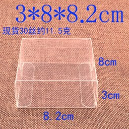 Wholesale Clear Display Packaging Gift Boxes - 3*8*8.2cm Plastic Craft Display Box PVC Clear Cosmetic Gift Boxes Retail Packaging Wedding Party Favor Candy Chocolate Pack Box