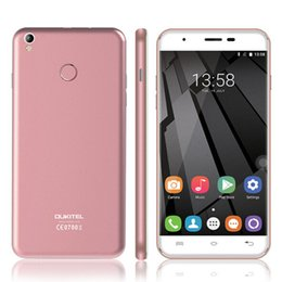 Wholesale Lte Mobile Chinese Wholesale - Original New OUKITEL U7 plus Android 6.0 5.5'' MTK6737 Quad Core 2GB RAM 16GB ROM 2800mAh fingerprint 4G LTE Mobile Phone