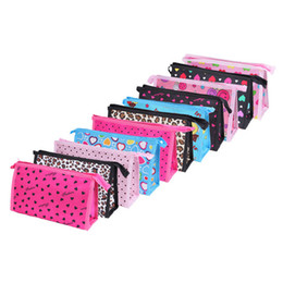cosmetic wash bags wholesale Promo Codes - 2016 cheap 14 colors simple zip closure wash organizer holder women cosmetic makeup bag wholesale