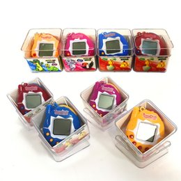 Wholesale Box Vintage Jewelry - With Jewelry box New Retro Game Toys Pets In One Funny Toys Vintage Virtual Pet Cyber Toy Tamagotchi Digital Pet Child Game Kids