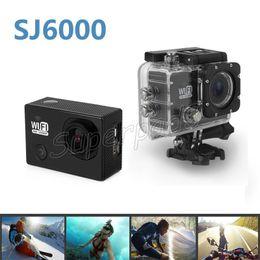 "Wholesale H 264 Wifi Outdoor Camera - SJ6000 Waterproof Sports Camera Car Recorder Outdoor Sports DV 170° Lens HD 1080P Wifi H.264 Diving Action Camera 14MP 2"" Mini DVR"