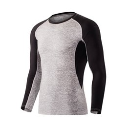 2017 New Long Sleeved Bodysuit Fitness Uniform Jogging T-Shirts Quickly-Dry Breathable Sportswear Basketball Running Jerseys Shirts da
