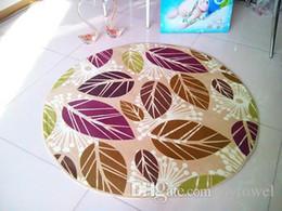 Wholesale Floor Carpet Mats - 2017 Wholesale Floral Round Carpets for Bed Room Non-Slip Round Floor Mat Doormat Baby kids Play Mat 60cm, 80cm, 100cm, 120cm ,mat