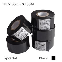 Wholesale Card Tube - FC2 30mmX100M Coding machine color ribbon,black color ribbon,follow wrapping machine color ribbion(5roll lot)