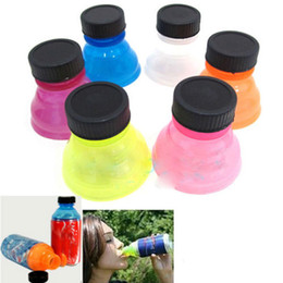 Wholesale Snap Lids - Wholesale- 6Pcs Lot New Tops Snap On Pop Soda Can Bottle Caps For Cool Fizz Coke Drink Lid Cap Reuse AL3264
