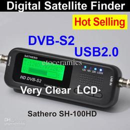 Wholesale Digital Sat Meter - Wholesale Lots24 Sathero Pocket Digital Satellite Finder Meter HD Signal Digital Satellite Meter Finder Sat Finder HD SH-100HD with DVBS2 US