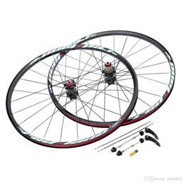 bicicleta de ciclocross de carbono Rebajas Nuevo 26 '' 24H Disco de freno Rueda de bicicleta MTB Bicicleta de montaña Juego de ruedas Cubos Llanta Delantero Trasero Conjunto Rueda de bicicleta ligera