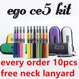 Wholesale Ego Starter Kit Ce5 Clearomizer - Ego CE5 starter kit e cig kit Electronic cigarette 650 900 1100mah battery EGO T kit Zipper case Clearomizer E-cigarette vs ego ce4