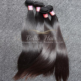 Wholesale 2pcs Malaysian Hair Straight - Most Popular Mix Length 10~24Inch Malaysian Hair Extensions 2pcs lot Double Weft Natural Color 9A Straight Hair Bundles Free Shipping