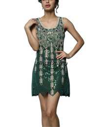 Wholesale Women S Art Deco - Vintage Sparkle Vintage Embroideried 1920's Art Deco Sequin Gatsby Flapper Inspired Sequin Style Gowns Dresses Costume Outfits