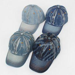 Wholesale Retro Snapbacks - 2016 New Do Old Baseball Cap Retro Denim Hat Traveling Shade Outdoor Sports Cap Sunscreen Unisex