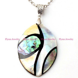 Wholesale China Horse Pendant - China Wholesale Charm Olivary Horse Eye Natural Abalone Shell Splicing Pendant Accessories Silver Plated European Trendy Jewelry 10pcs